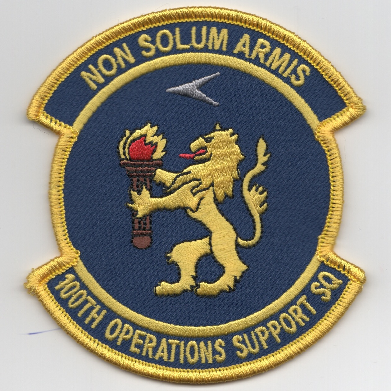 100 OSS Sqdn Patch (Yellow/Blue)