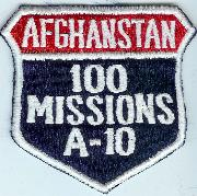 A-10 100 Missions (Afghanistan) Shield