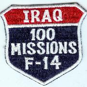 F-14 100 Missions (Iraq) Shield