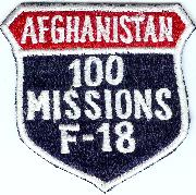F-18 100 Missions (Afghanistan) Shield