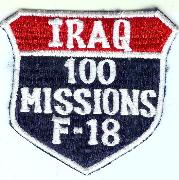 F-18 100 Missions (Iraq) Shield