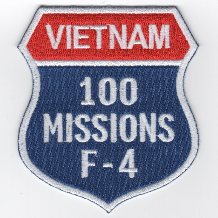 F-4 '100 Missions/North Vietnam' Shield Patch