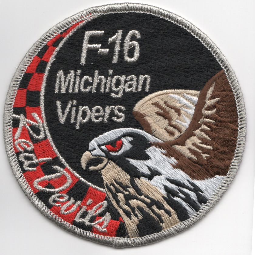 107FS 'Red Devil' F-16 SWIRL Patch