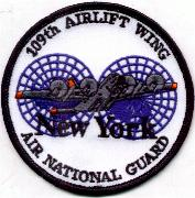 109th Airlift Wing/NY ANG Patch (White)