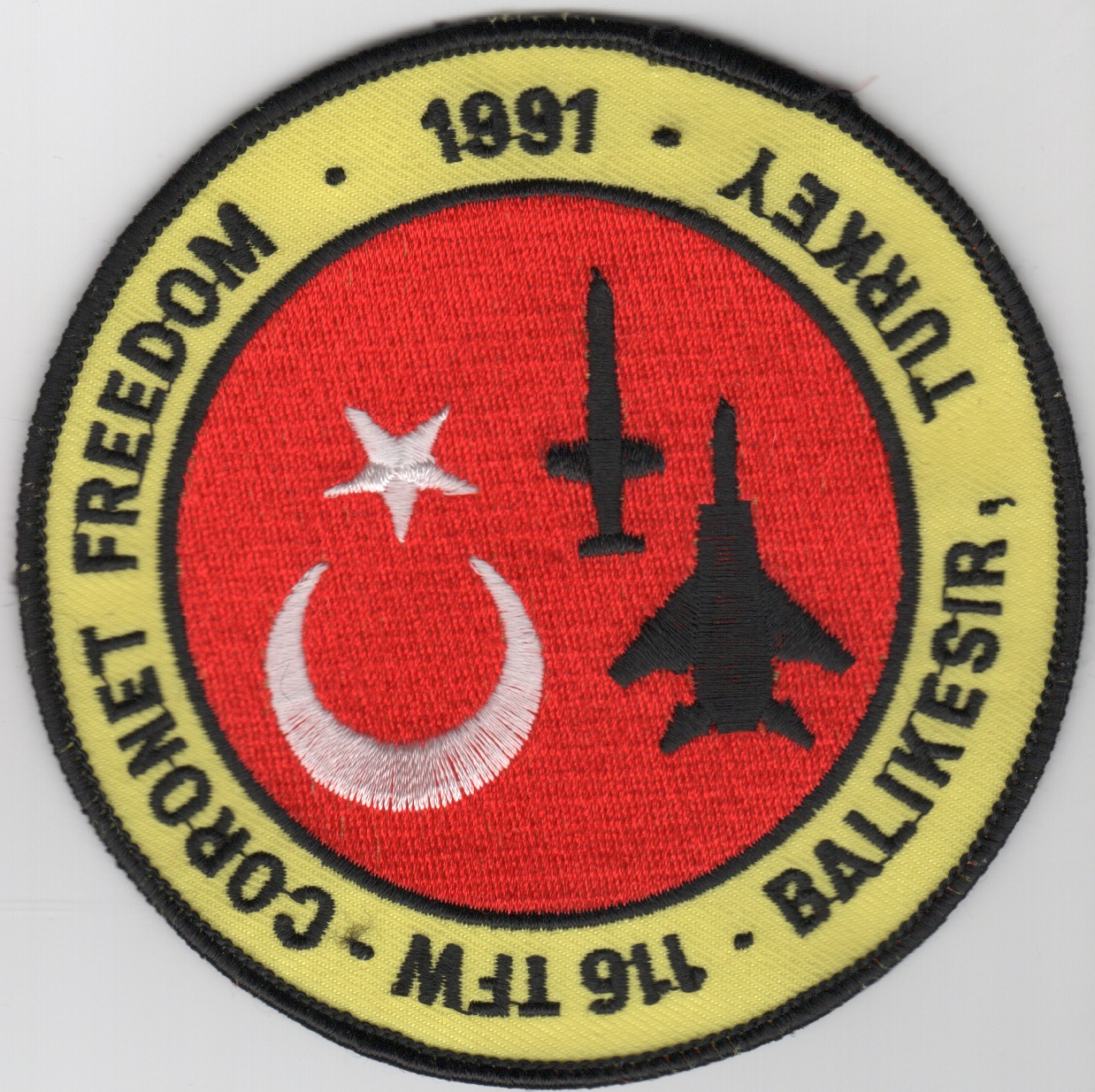 116TFW 1991 'Coronet Freedom' Patch (Original)