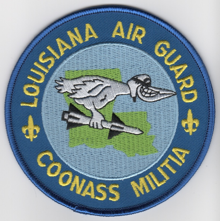 122FS 'LA ANG/COONASS' Patch' (Light Blue)