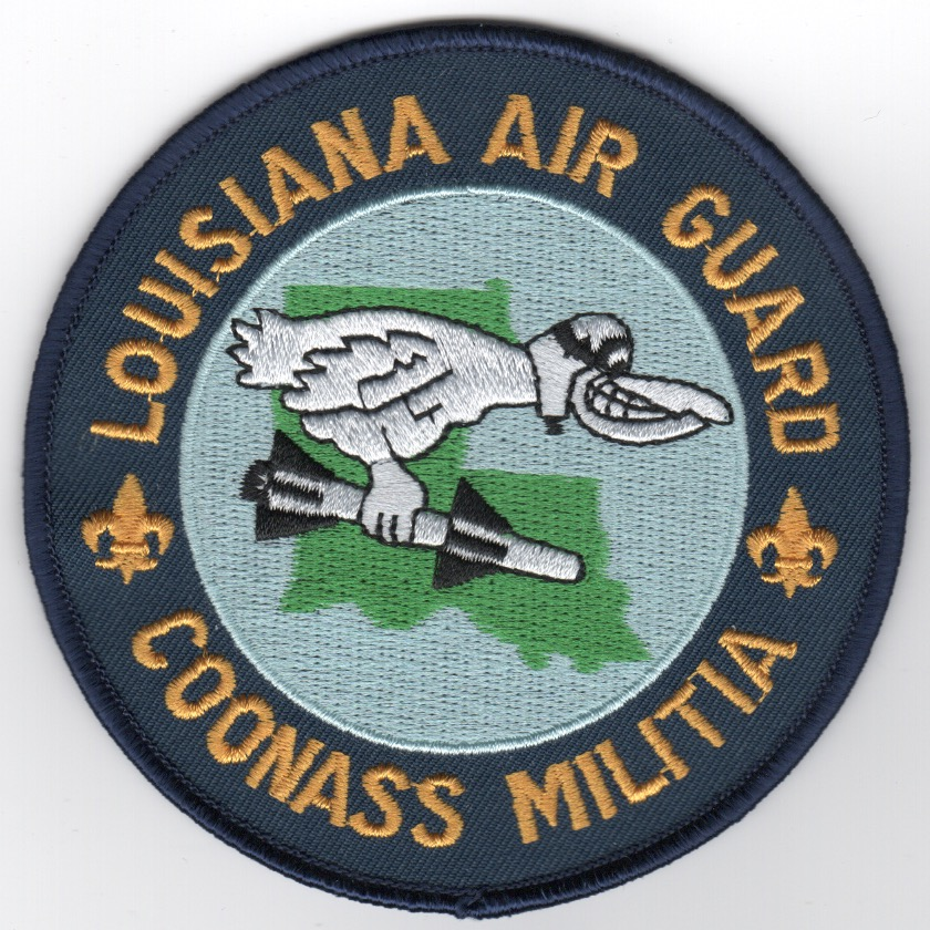 122FS 'LA ANG/COONASS' Patch' (Dark Blue)