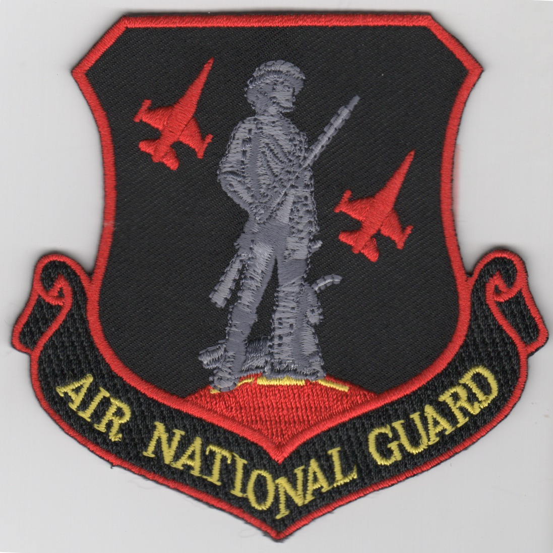 (F-16) 124FS/ANG Crest Patch (Red/Blk)