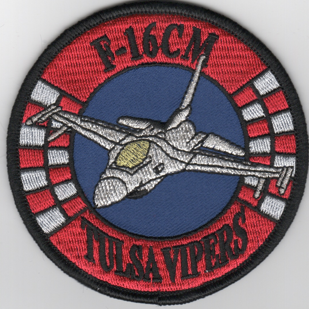 125FS 'Tulsa Vipers' F-16CM Patch