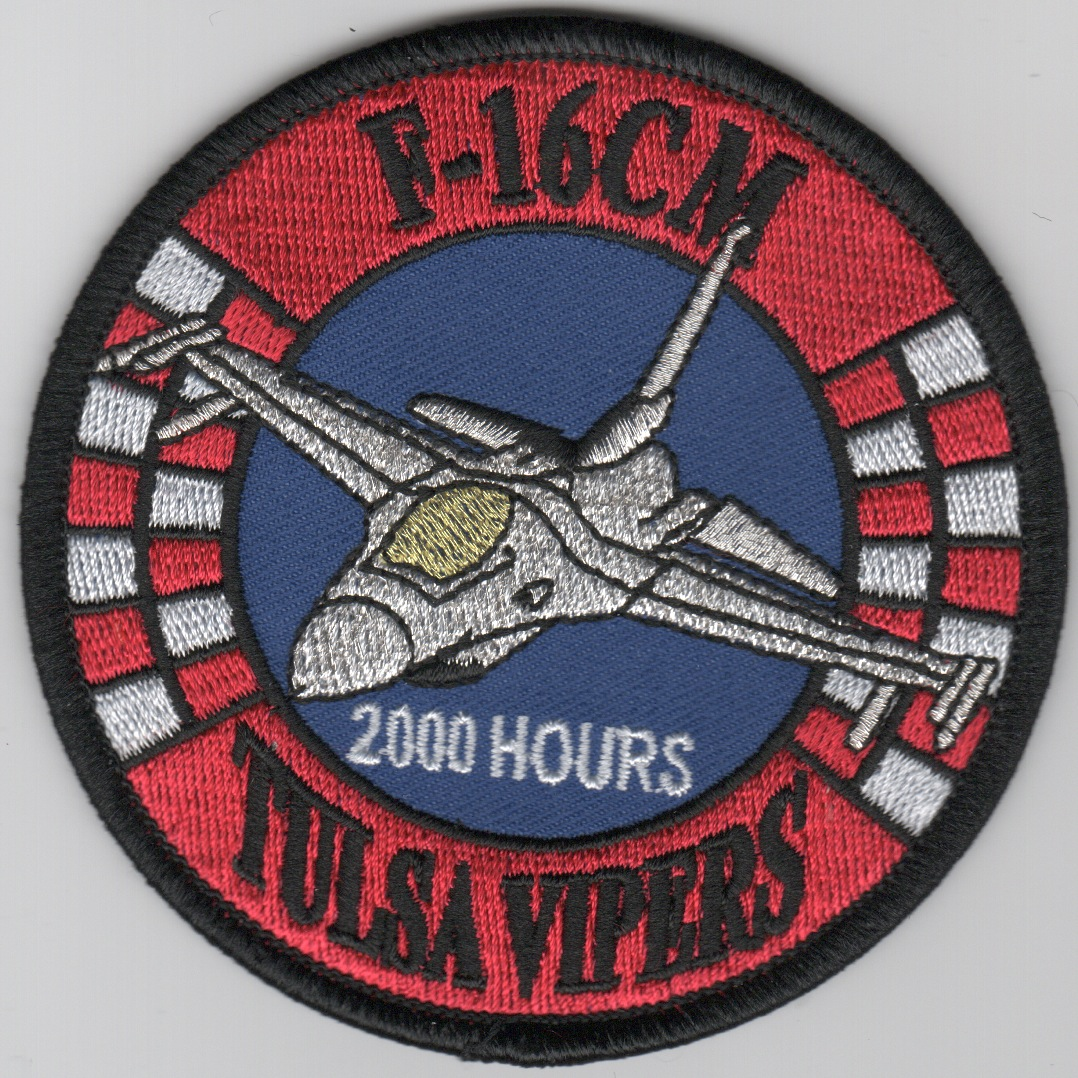 125FS 'Tulsa Vipers' 2000 Hours F-16CM Patch