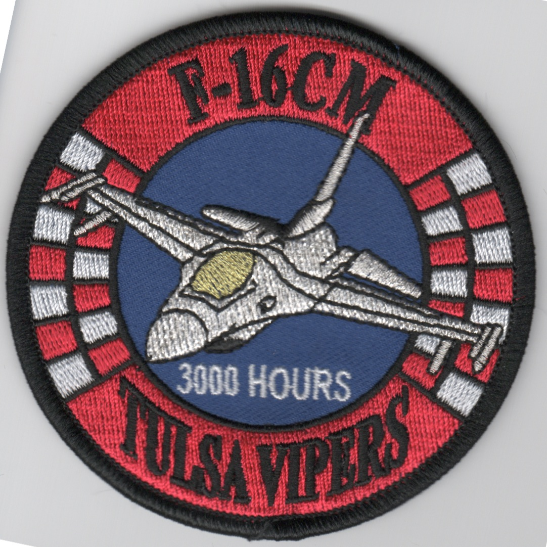 125FS 'Tulsa Vipers' 3000 Hours F-16CM Patch