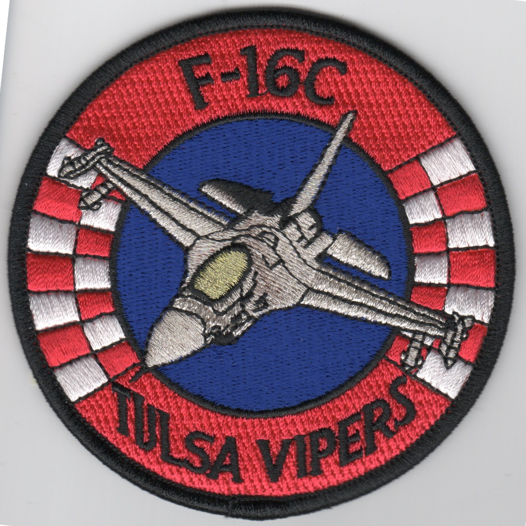 125FS 'Tulsa Vipers' Patch (Silver F-16)