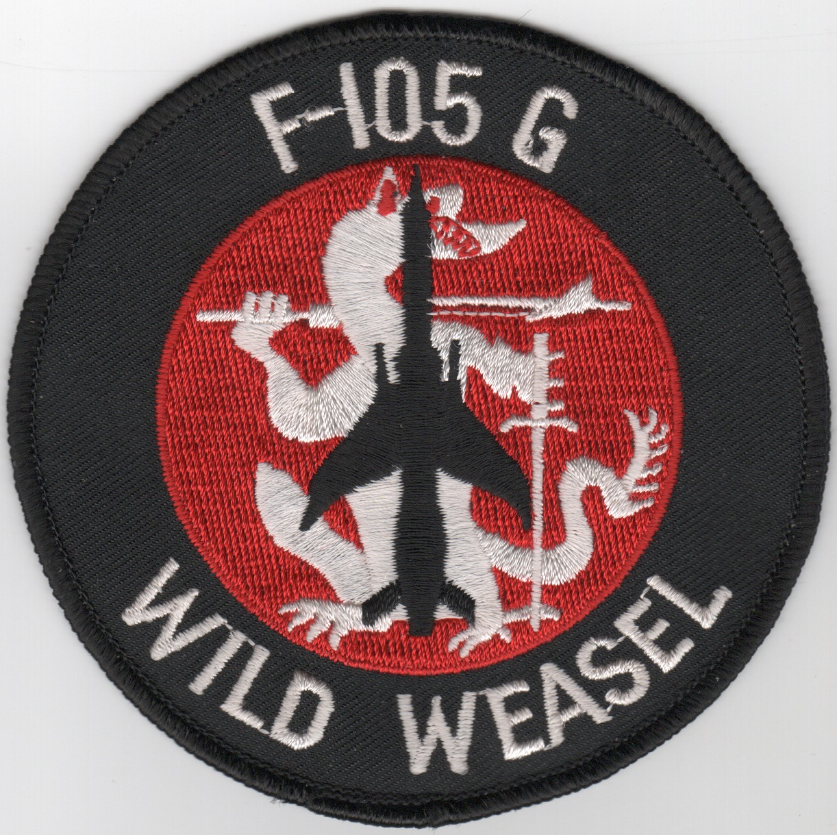 128TFS F-105G Wild Weasel Patch (Red/White/Original)