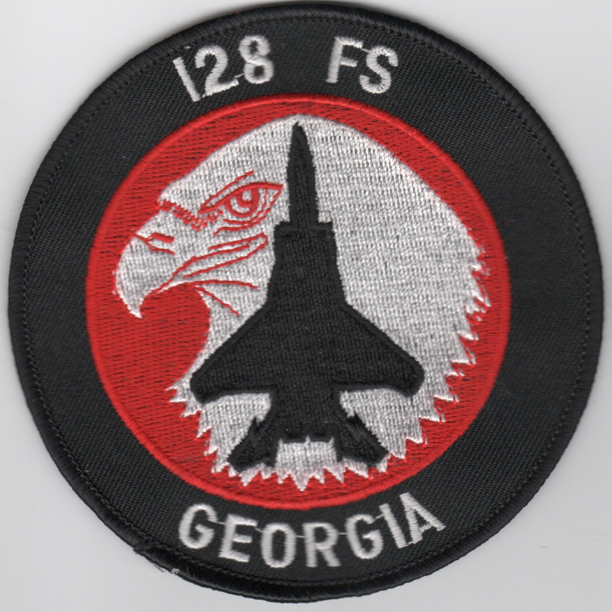128FS F-15C Patch (Red/White/Original)