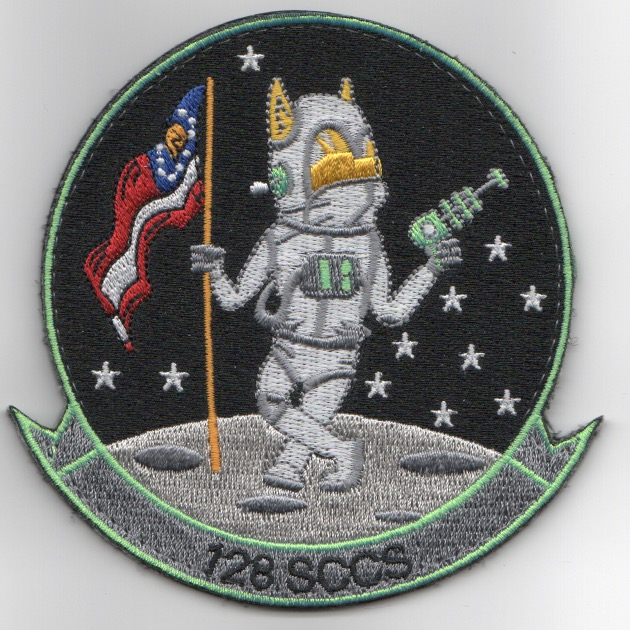 128th Space Command and Control Wing Patch (Neon)