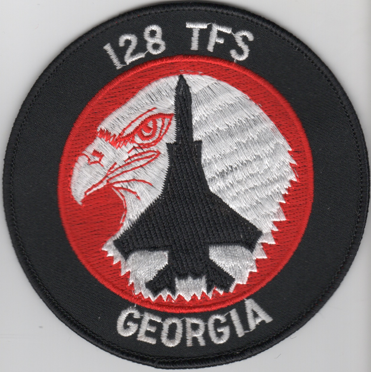 128TFS F-15C Patch (Red/White/Original)
