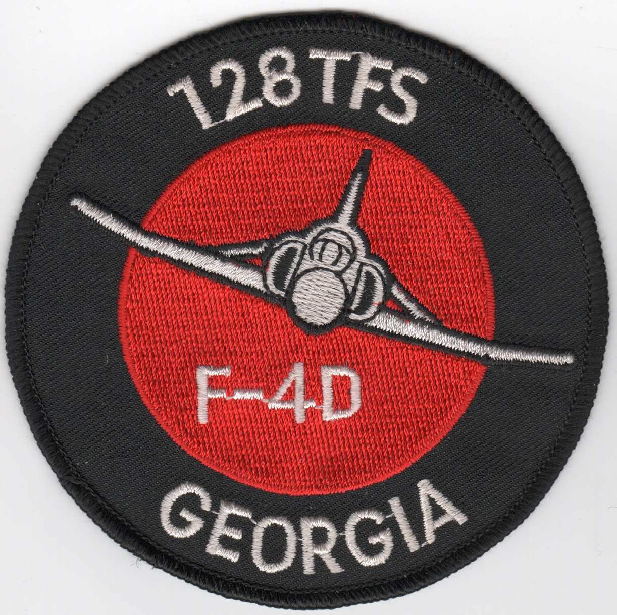 128TFS F-4D Patch (Red/White/Original)