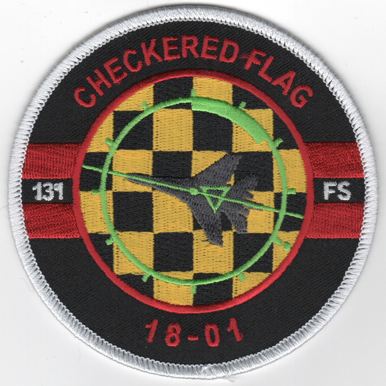 131FS 'Checkered Flag' 18-01 Patch