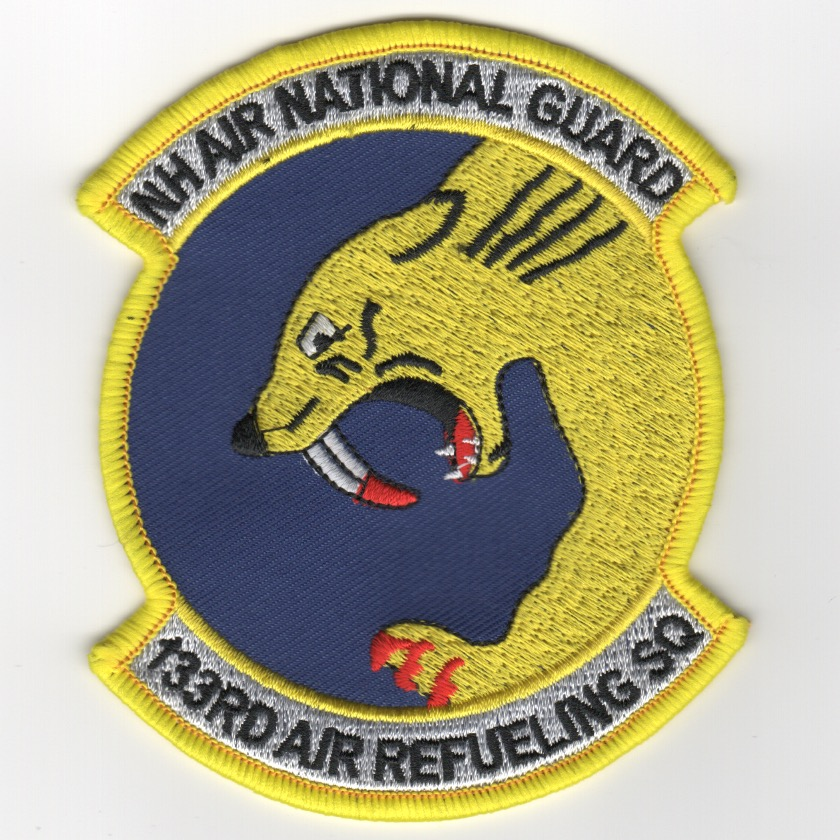 133rd ARS/NH ANG Patch (Yellow)