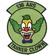136th ARS Tanker Clown Patch