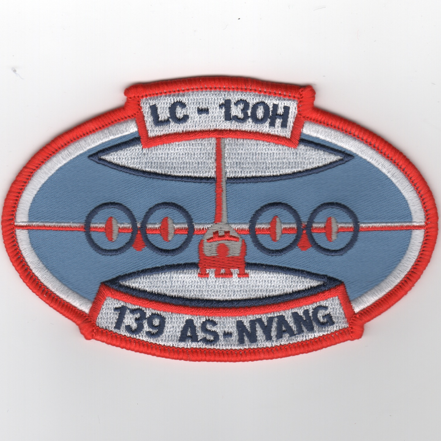 139th ALS/NYANG - Oval Patch (Lt. Blue)