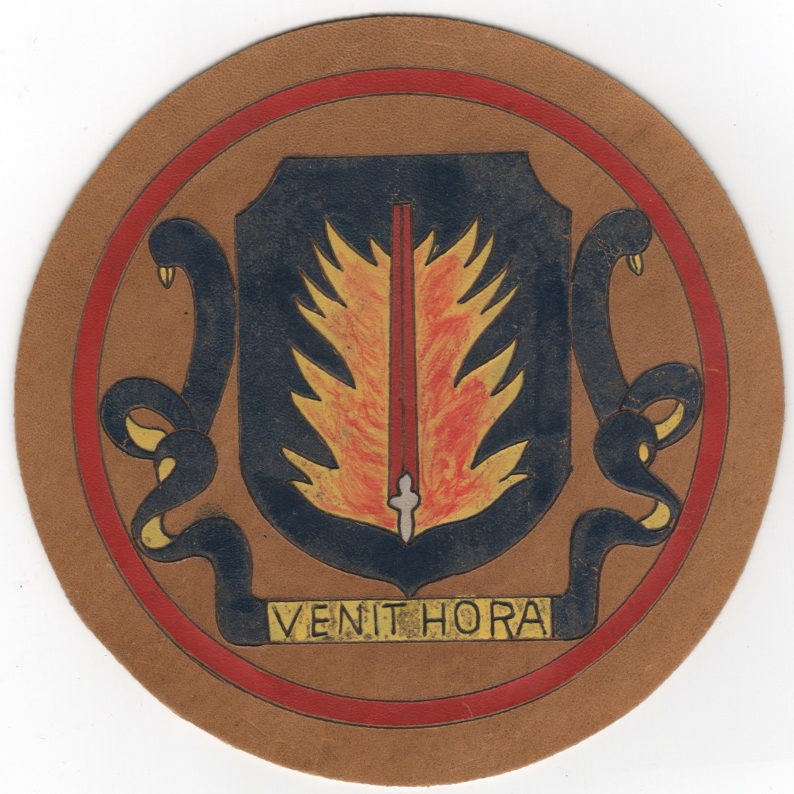 WWII LEATHER PATCH (VENIT HORA)