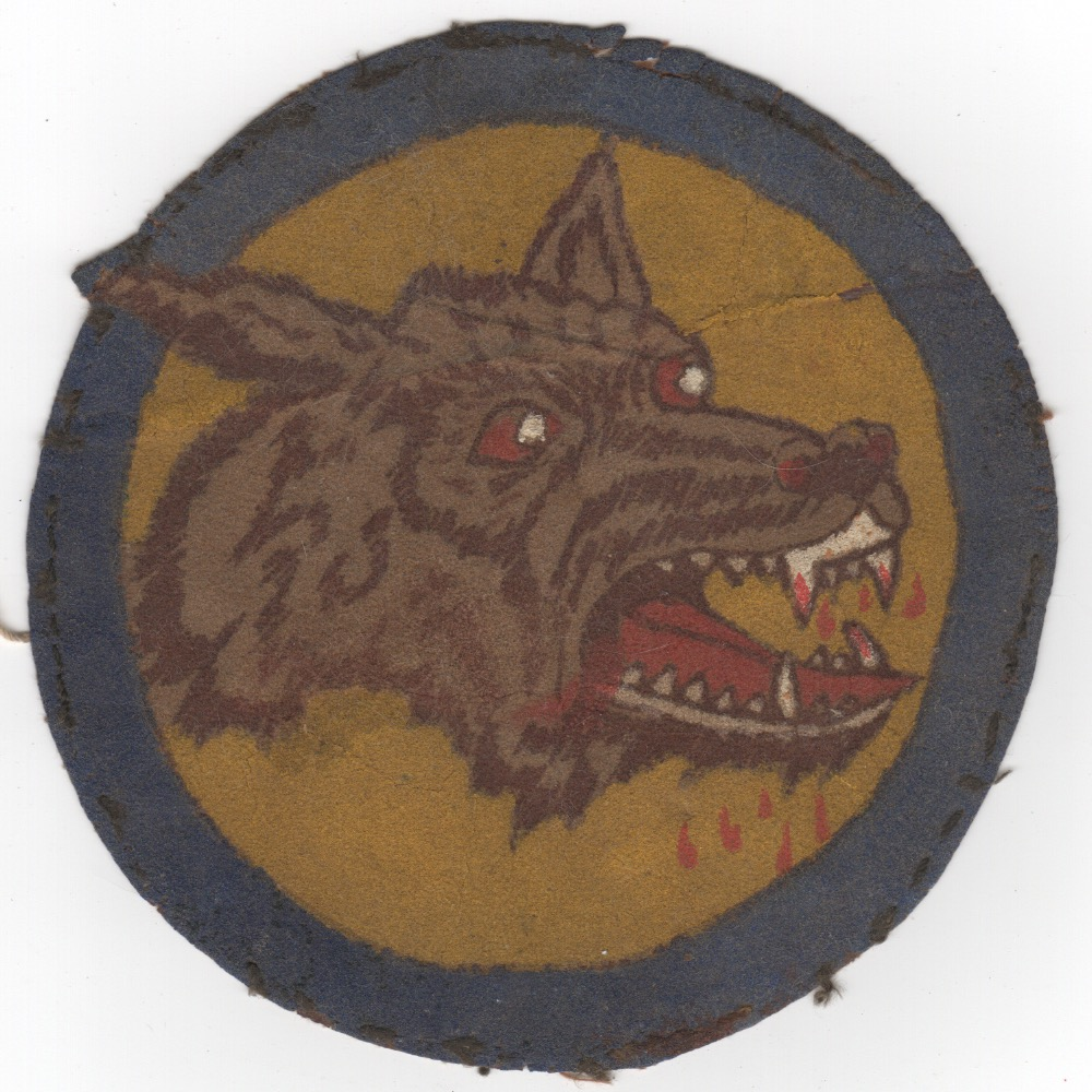 WWII LEATHER PATCH (Wolfhead)