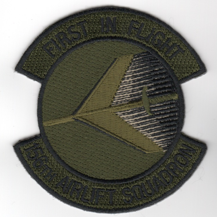 156th Airlift Squadron Patch (ODG Outer/ODG Center)