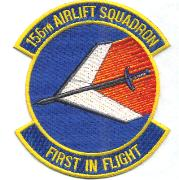 156th Airlift Squadron Patch (Blue)