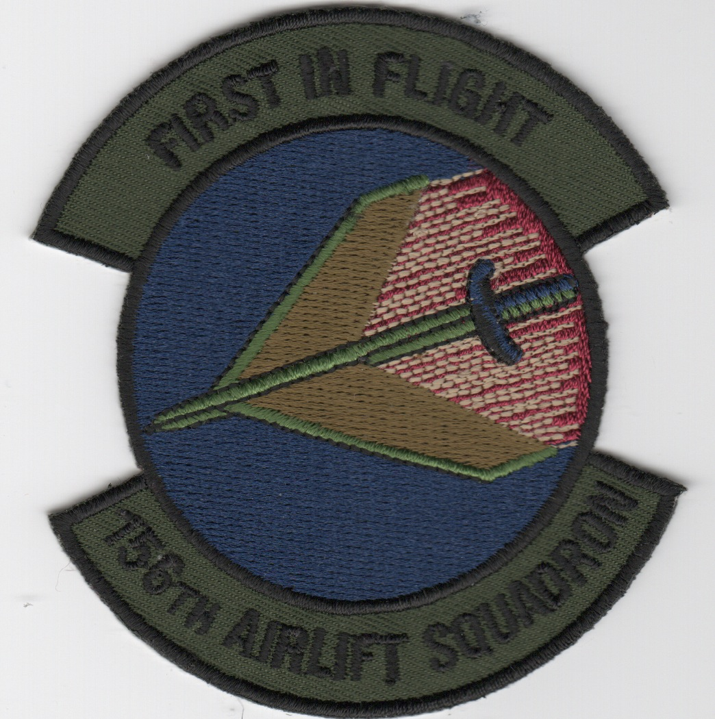 156th Airlift Squadron Patch (Sub Outer/Blue Center)