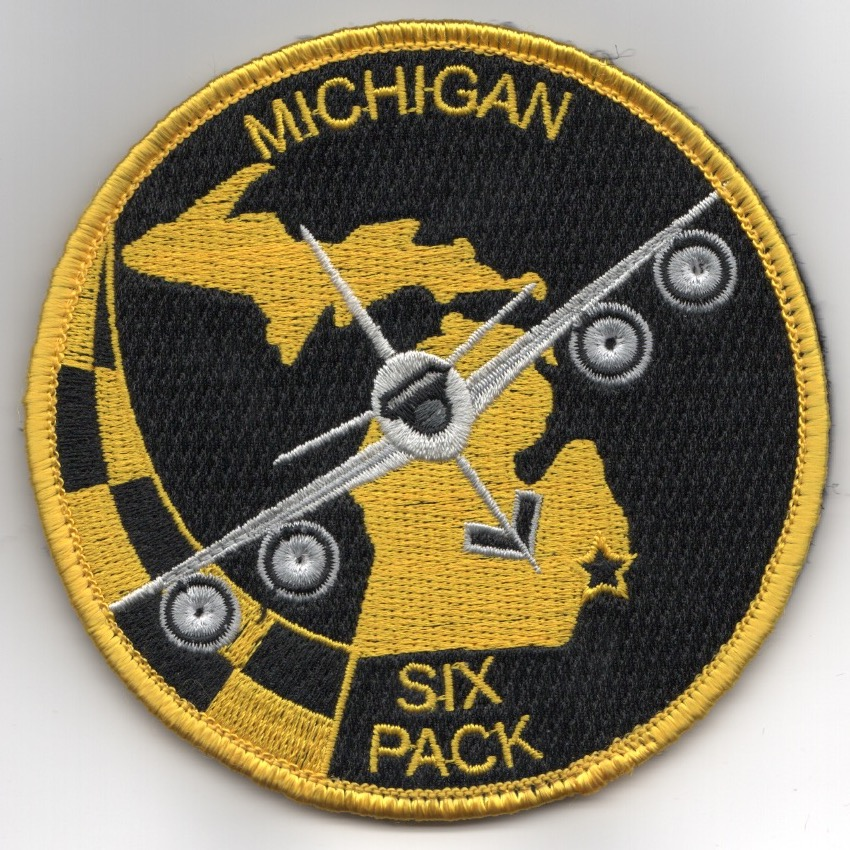 171ARS/MI ANG 'SIX-Pack' Patch (Black-DARK Yellow/Velcro)