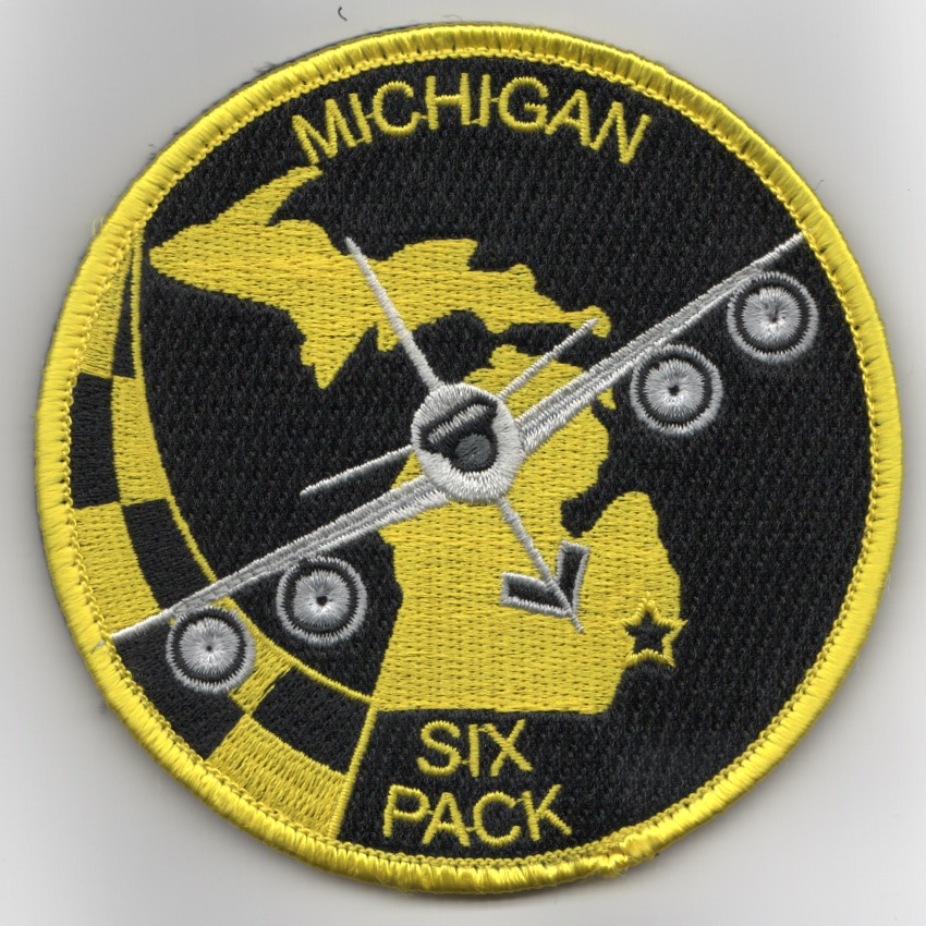 171ARS/MI ANG 'SIX-Pack' Patch (Black-LIGHT Yellow/Velcro)