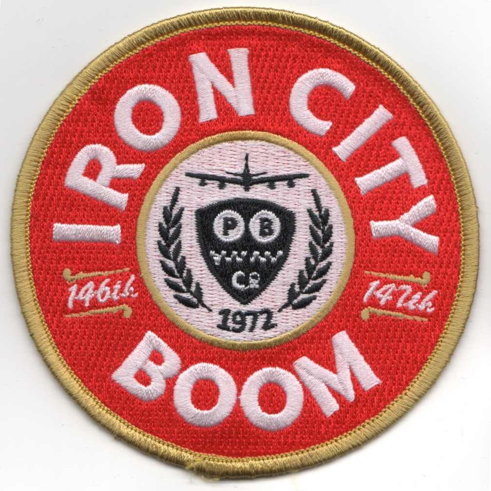 171OG 'IRON CITY BOOM' Patch (Round/Red)
