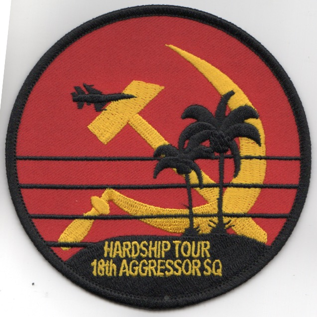 18th Aggressor 'HARDSHIP TOUR' Patch (RED)