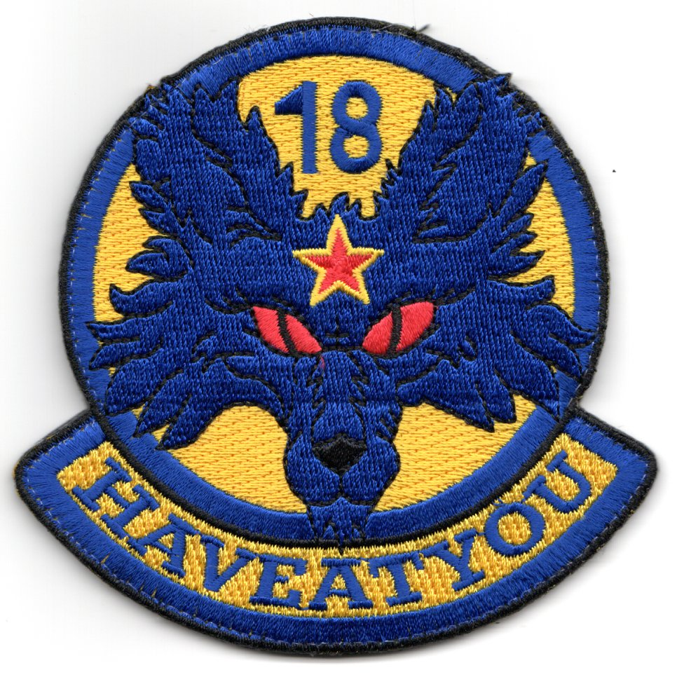 18th Aggressor 'Have At You' Patch (Blue/Yellow)