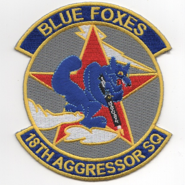 18th Aggressor Squadron Patch ('Blue Foxes')