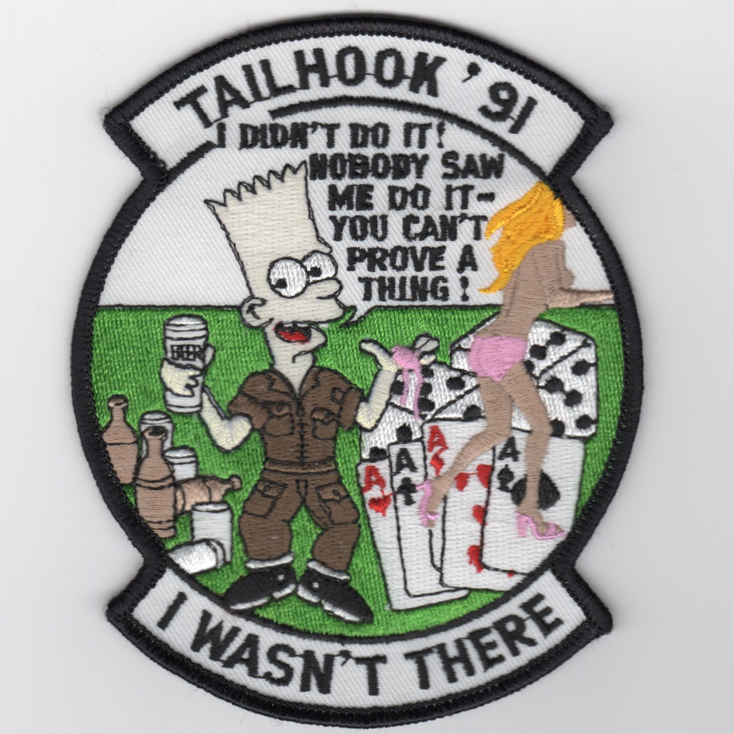 'ORIGINAL Tailhook 91' Bart Simpson Patch
