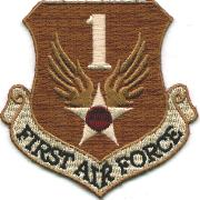1st Air Force Reserve Crest (Tan)