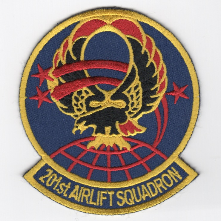 201st Airlift Squadron Patch (Blue)