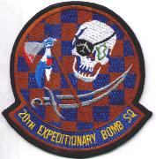 20th Exp. Bomb Squadron Patch (Checkered)