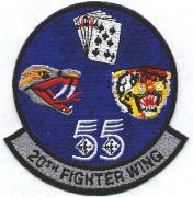20th Fighter Wing (Color-All Mascots Separate)