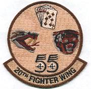 20th Fighter Wing (Desert-All Mascots Separate)