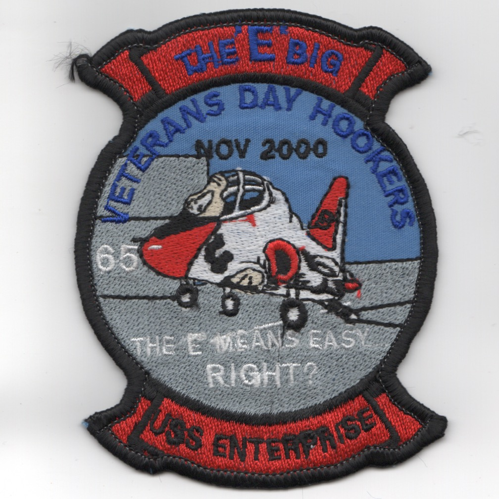 224) CVN-65 'Veteran Day Hookers' Patch