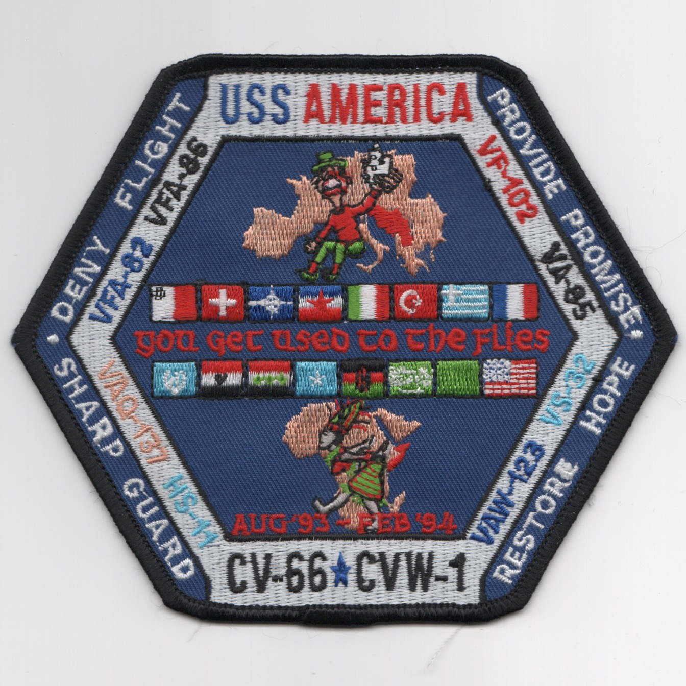VF-102/CV-66 'HEX' Cruise Patch