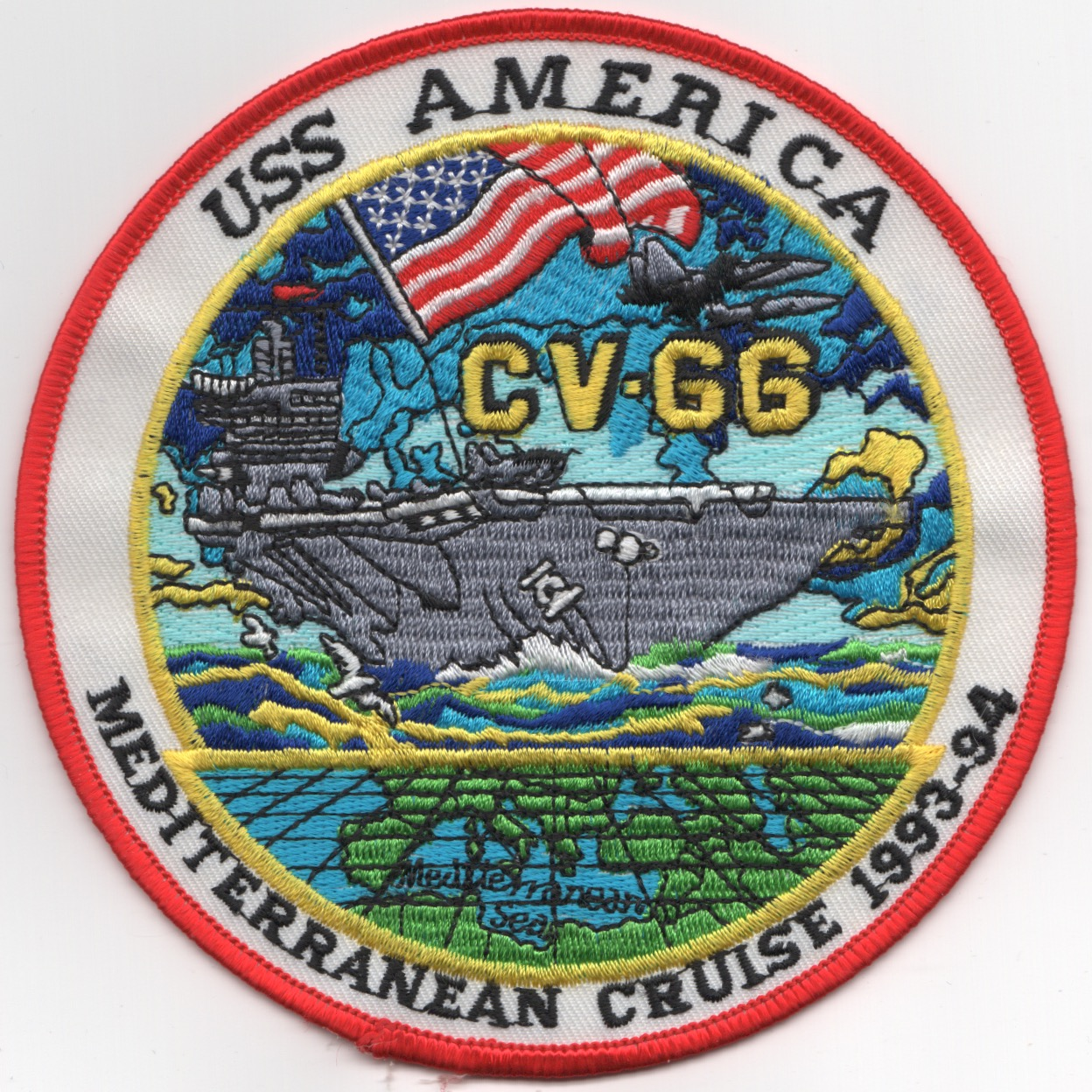 CV-66 '1993-94 MED' Cruise Patch