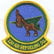 22nd Air Refueling Sqdn Patch (Small)
