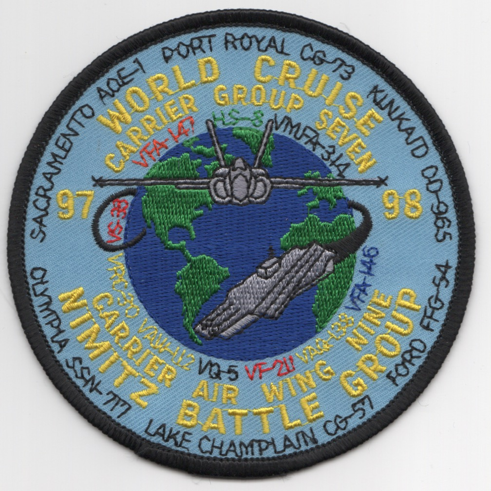 VFA-146/VFA-147 1998 'World' Cruise Patch