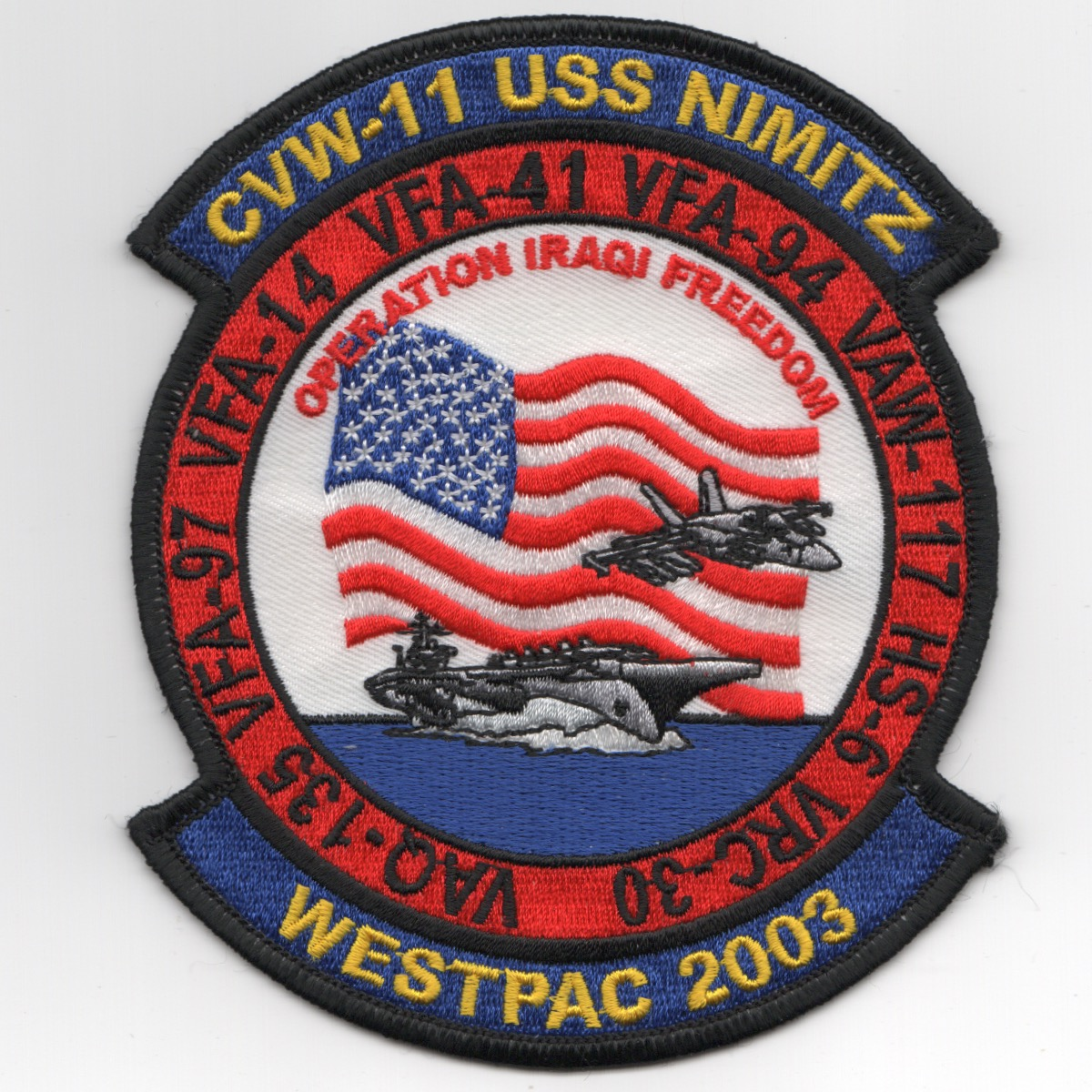 VFA-14/VFA-41 2003 WPAC/OIF Cruise Patch