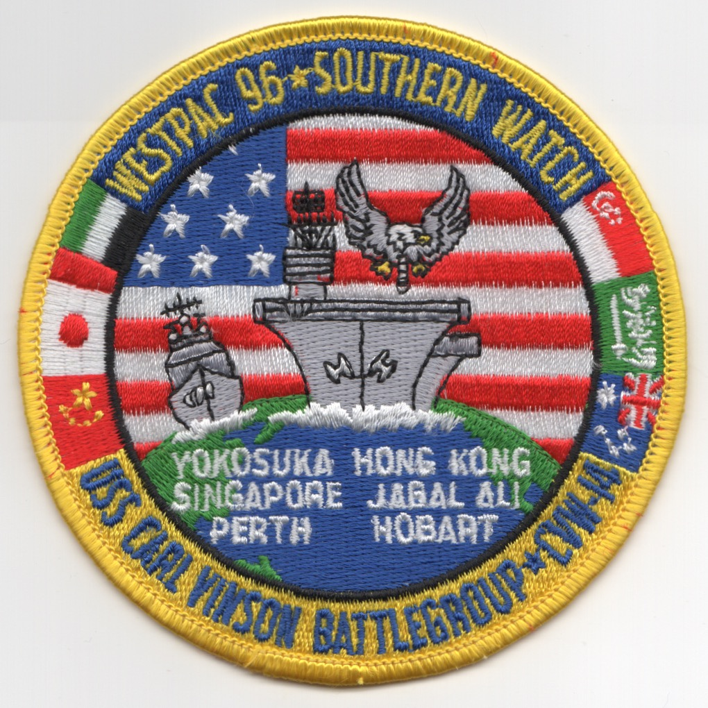 CVN-70/CVW-14 1996 'WESTPAC' Cruise Patch