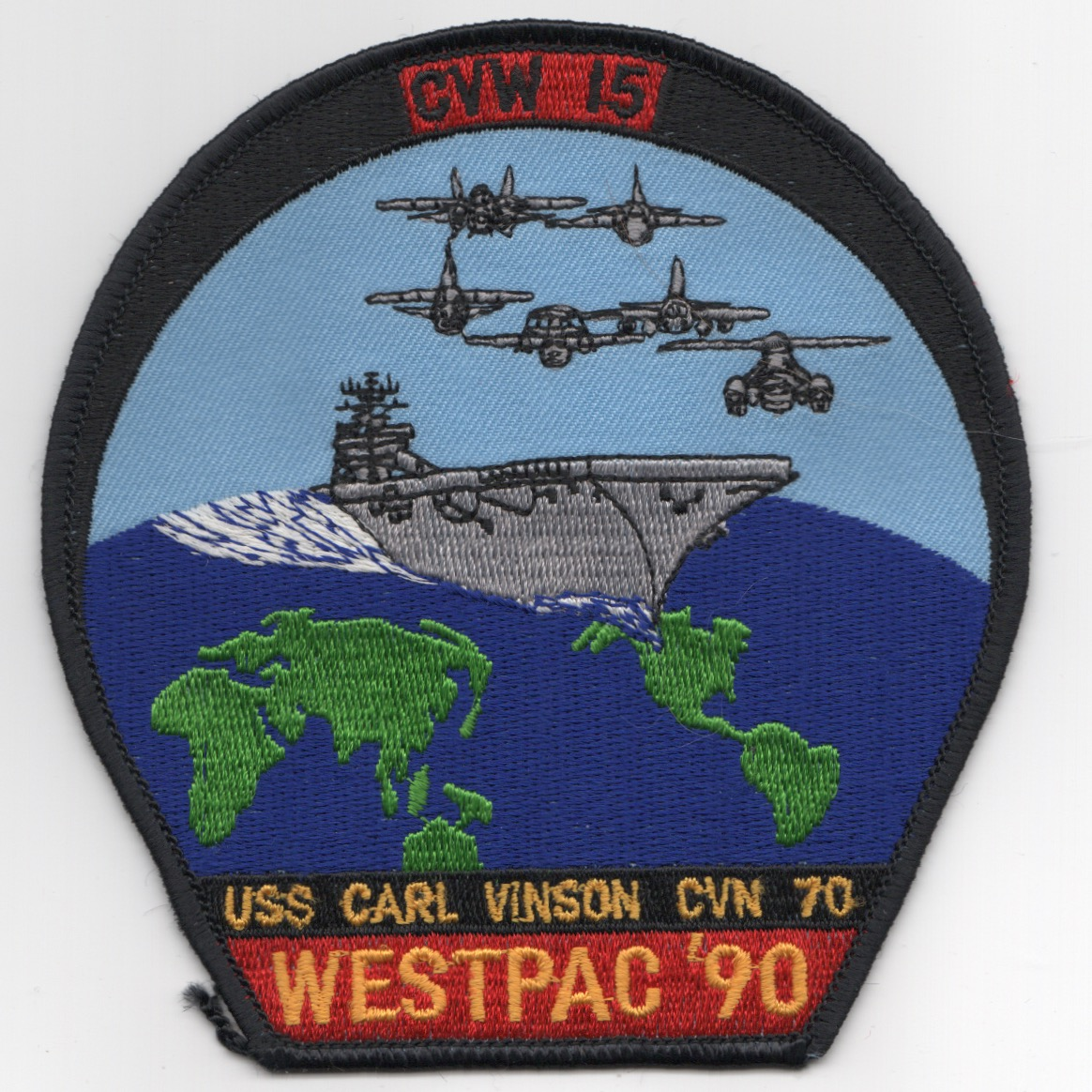 CVN-70/CVW-15 1990 'WESTPAC' Cruise Patch